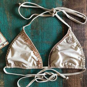 True Religion Nude Boho Triangle Bikini Swim Top